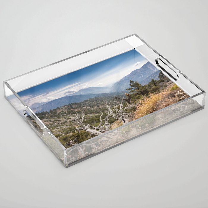 Inspiration Point along Pacific Crest Trail Acrylic Tray