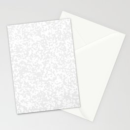 Small Spots - White and Pale Gray Stationery Cards