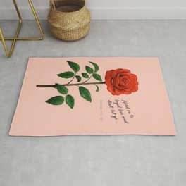 Red Rose Painting Rug