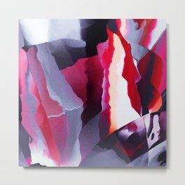 Uncut ruby texture Metal Print