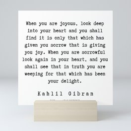19   | Kahlil Gibran Quotes | 190701 Mini Art Print