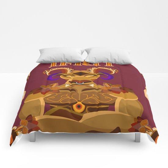 Ifrit half body vector fanart Comforters