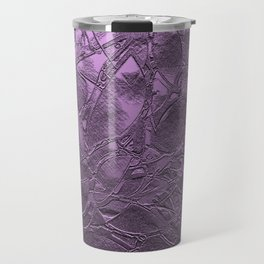 Metal Grunge Relief Floral Abstract G166 Travel Mug