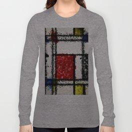 Mondrian with a twist Long Sleeve T-shirt