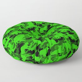 Bright Neon Green Catmouflage Floor Pillow