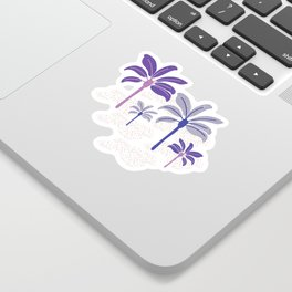 Colorful beach palm trees Sticker