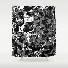 Carmine Blue (Black & White) Shower Curtain