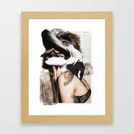 Dogface Framed Art Print