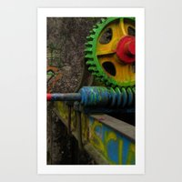 top gear Art Prints featuring gear by giol's by gianalberto oliva