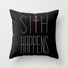 Sith Happens Throw Pillow