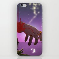 captain hook iPhone & iPod Skins featuring Hook by Aaron Rossell