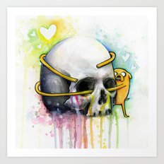 Jake and Skull Art Print