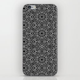Black and white mystical Kaleidoscope 5010 iPhone Skin