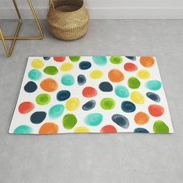 Cobblestone Watercolor Abstract Rug