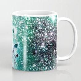 Eagle Nebula Deep Pastel Periwinkle Mint Coffee Mug