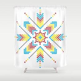 Asterisk Shower Curtain