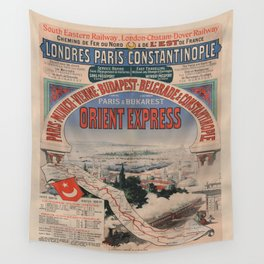 Vintage poster - Orient Express Wall Tapestry