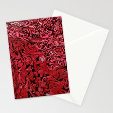 RED MARBLE Stationery Cards