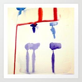 watercolor drips Art Print