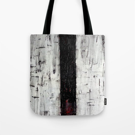 Dark Path - Black and white abstract Tote Bag