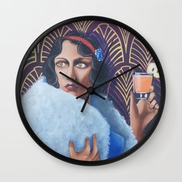 Glam Snow White Wall Clock