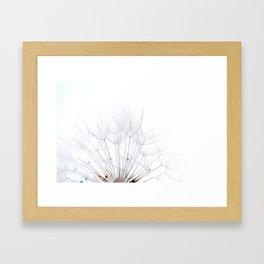 Dandelion * make a wish Framed Art Print