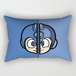 Old & New MegaMan Rectangular Pillow