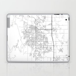 Minimal City Maps - Map Of Fort Collins, Colorado, United States Laptop & iPad Skin