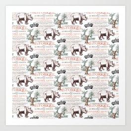 Royal Rhinoceros Art Print