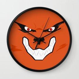 Kurama Face Wall Clock