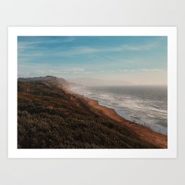 Fort Funston Park in San Francisco, California Art Print