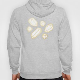 Gold and White Gemstone Pattern Hoody
