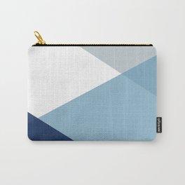 Geometrics - blues & concrete Carry-All Pouch