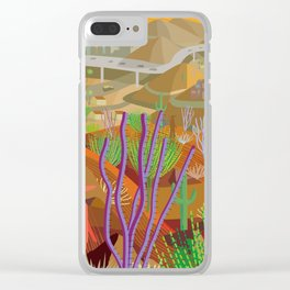 Desert City Phoenix Clear iPhone Case