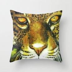 Wildlife Animal Painting - Jaguar Throw Pillow