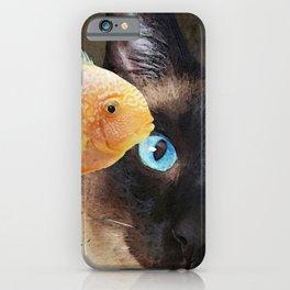 Wishful Thinking 2 - Siamese Cat Art - Sharon Cummings iPhone Case