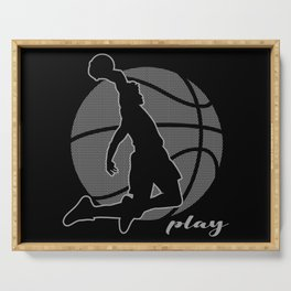 Basketball Player (monochrome) Serving Tray
