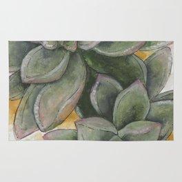 Watercolor Succulents Rug