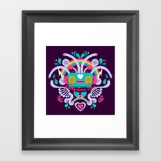 Bitty Love Bot Framed Art Print