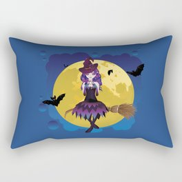 Full moon and witch Rectangular Pillow