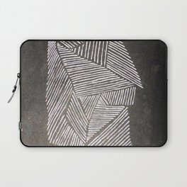 Black and White  Lines Laptop Sleeve