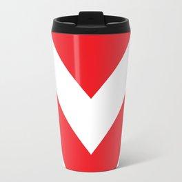 Red Arrow Down Travel Mug