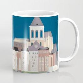 Mont Saint-Michel, Normandy, France - Skyline Illustration by Loose Petals Coffee Mug