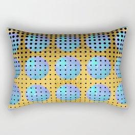 Aquarius Moons - 70s Pop Art Rectangular Pillow