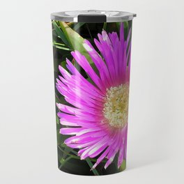 Pink Mesembryanthemum Travel Mug