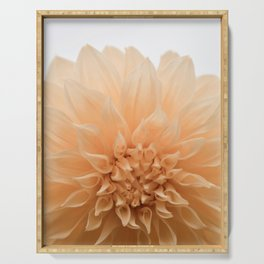 Palest Coral Flower Serving Tray