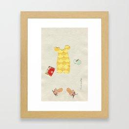 Pajama Outfit Framed Art Print