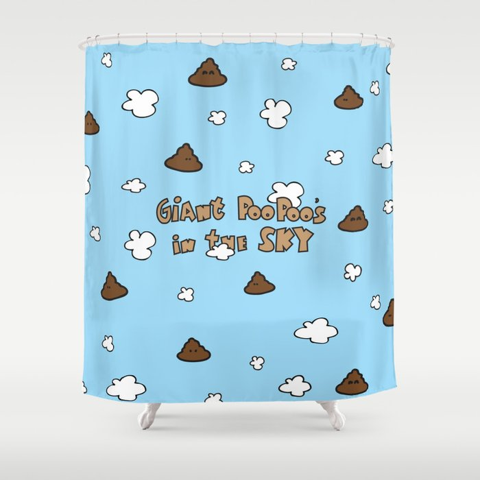 Giant Poo Poos In The Sky Shower Curtain