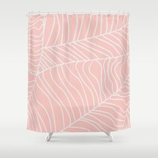 TROPICAL LEAVES - pink palette Shower Curtain