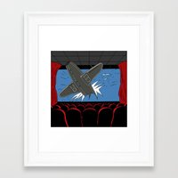 cinema Framed Art Prints featuring Cinema by AdamSteve